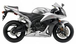 Honda 600RR 2008 silver decal set