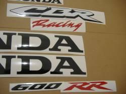 Honda CBR 600RR 2008 silver stickers