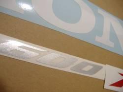 Honda CBR 600RR 2007 blue stickers kit