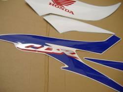 Honda CBR 600RR 2007 blue stickers