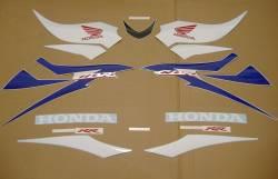 Honda 600RR 2007 blue stickers set
