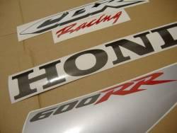 Honda CBR 600RR 2007 white stickers kit