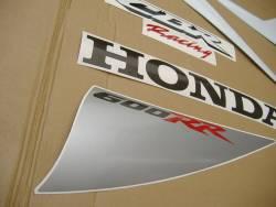 Honda CBR 600RR 2007 white adhesives set