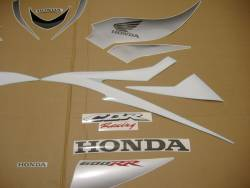 Honda CBR 600RR 2007 white stickers