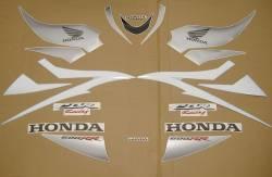 Honda 600RR 2007 white decals