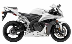Honda cbr 600rr 2007 white full graphics kit