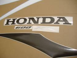 Honda CBR 600RR 2007 grey decals kit