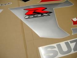 Suzuki GSXR 600 K5 red full decals kit