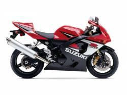 Suzuki GSXR 600 2005 red labels graphics