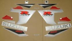 Suzuki 600 2005 red stickers kit