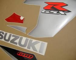 Suzuki 600 2005 red complete sticker kit