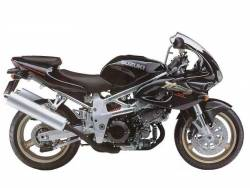 Suzuki TL 1000S 1997 black decals kit