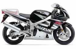 Suzuki GSXR 600 2003 silver decals