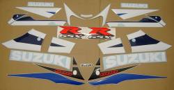 Suzuki GSXR 600 2003 white labels graphics