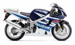Suzuki GSX-R 600 2003 white decals kit