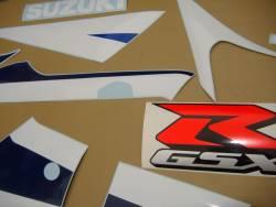 Suzuki GSX-R 600 K3 white stickers set