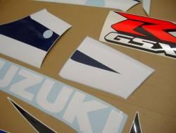 Suzuki GSXR 600 K3 white full decals kit