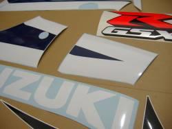 Suzuki GSX-R 600 K3 white logo graphics