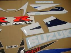 Suzuki GSXR 600 2003 white labels graphics set