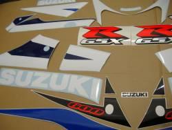 Suzuki 600 2003 white stickers kit