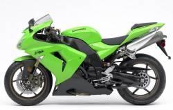 Kawasaki 10R 2006 green stickers kit