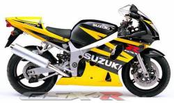 Suzuki GSX-R 600 2003 yellow decals kit