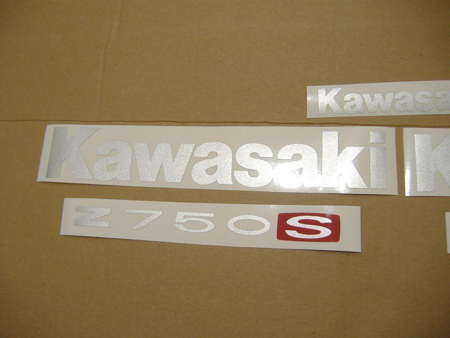 Kawasaki Z 750S 2005 2006 decals set (full kit) - blue version - Moto-Sticker.com