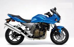 Kawasaki Z750 S 2005 blue decals kit