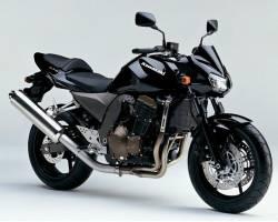 Kawasaki Z750 2004 black stickers set