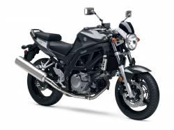 Suzuki SV 650 2008 black decals kit