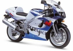 Suzuki GSX-R 600 1999 white decals kit