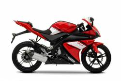 Yamaha R125 2009 red decals kit
