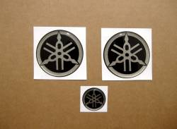 Yamaha 3d gel silicone emblems badges graphite grey r1 r6