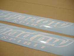 Honda shadow spirit white gas tank decals adhesives