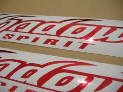 Honda shadow spirit chrome red gas tank stickers graphics set