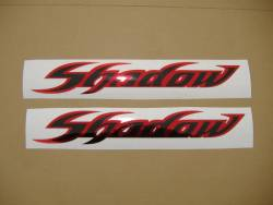 Honda shadow black chrome red gas tank decals adhesives