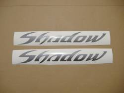Honda shadow pearl grey gas tank decals graphics