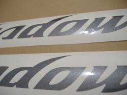 Honda shadow pearl grey gas tank graphics set kit