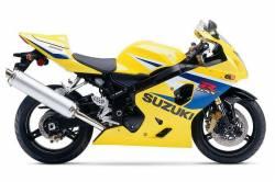 Suzuki GSXR 600 2005 yellow logo graphics