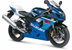 Suzuki 600 2005 blue stickers kit