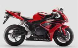 Honda 1000RR 2007 Fireblade red full decals kit