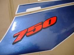 Suzuki 750 2004 white stickers kit