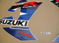 Suzuki GSXR 750 K4 white stickers