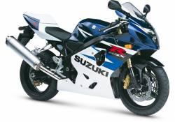 Suzuki GSX-R 750 2004 white decals kit