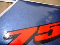 Suzuki GSXR 750 2004 white labels graphics