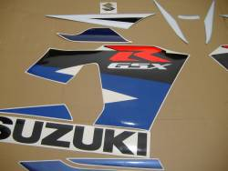 Suzuki 750 2004 white complete sticker kit
