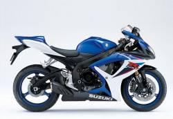 Suzuki 600 2007 blue stickers kit