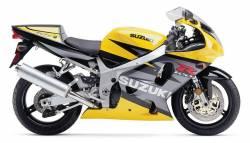 Suzuki GSXR 750 2003 yellow labels graphics