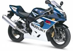 Suzuki GSX-R 750 2005 blue decals kit