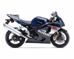 Suzuki GSX-R 750 2005 dark blue decals kit